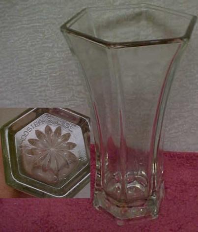 Dj Antiques Vasehexagon Hoosier Crystal Glass Vase 4040