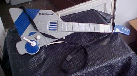 Dj Antiques Kawasaki Toy Guitar Gray And Blue